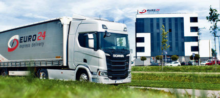 The EURO24 fleet has been enhanced by Scania R450 vehicles. - Euro24