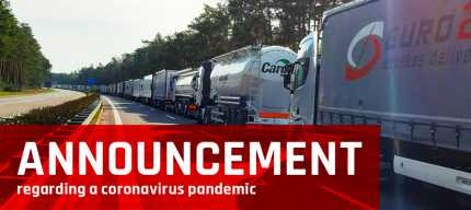 ANNOUNCEMENT regarding a coronavirus pandemic - Euro24